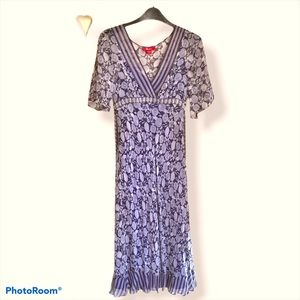 Monsoon Boho Silk Dress size 6